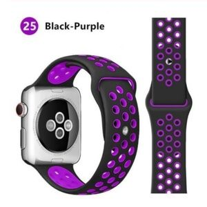 ❤️NEW Black Purple Sport Band For Apple Watch